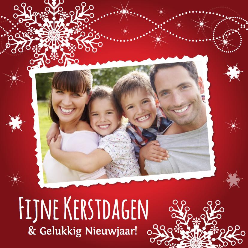 Kerstkaart met eigen familie foto
