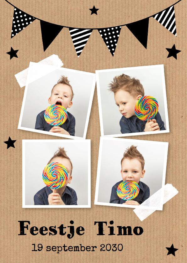 Uitnodiging kinderfeestje met eigen foto