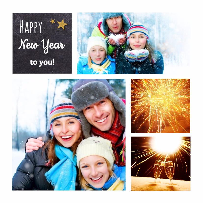 Nieuwjaarskaart met fotocollage