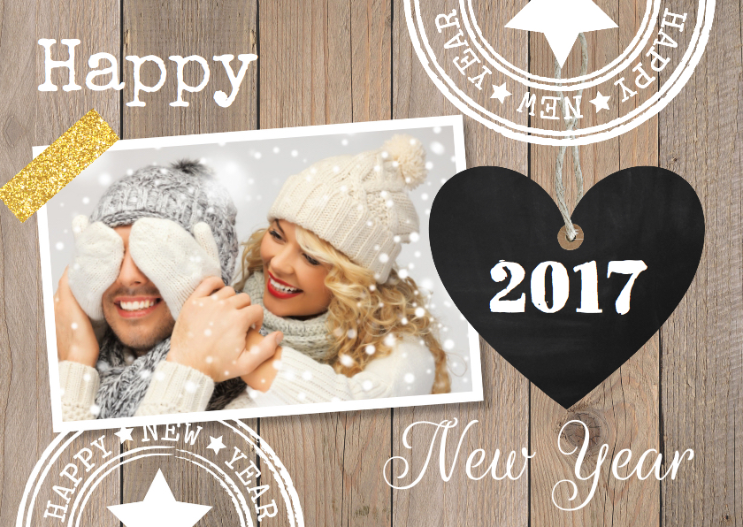 Nieuwjaarskaart Happy Newyear!