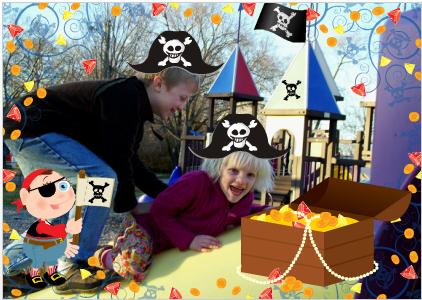 Verjaardagskaart met piraten