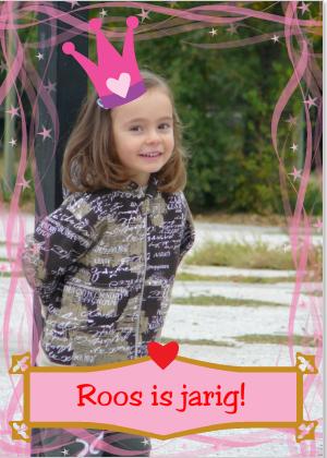 Verjaardagskaart met prinses
