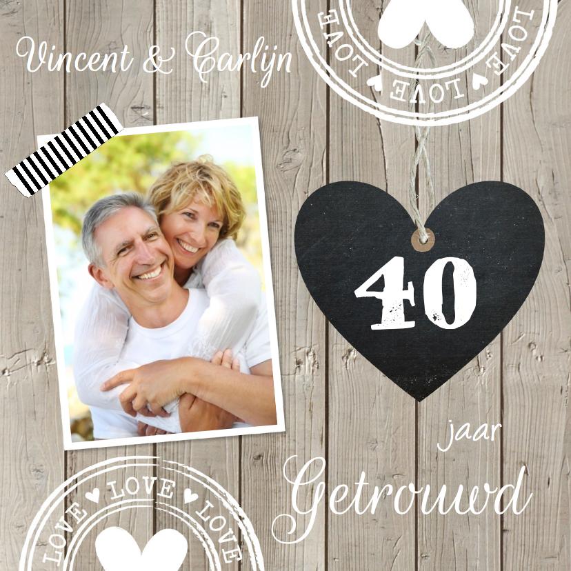 Jubileumkaart 40 jaar getrouwd