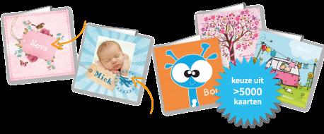 Geboortekaartjes maken met eigen foto