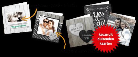 Trouwkaarten met je eigen foto