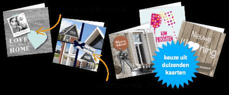 Verhuiskaarten met je eigen foto
