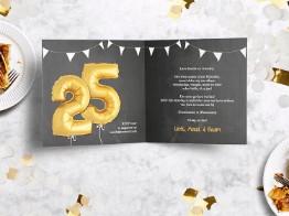 Jubileumkaarten 25-jarig huwelijk