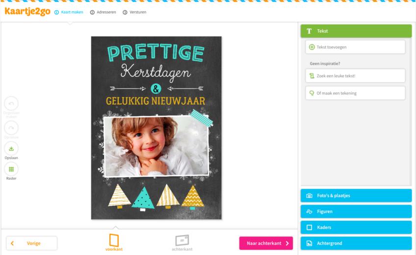 Kerstkaarten maken met de Kaartje2go kaartmaker