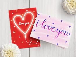 Ik hou van je liefde kaarten
