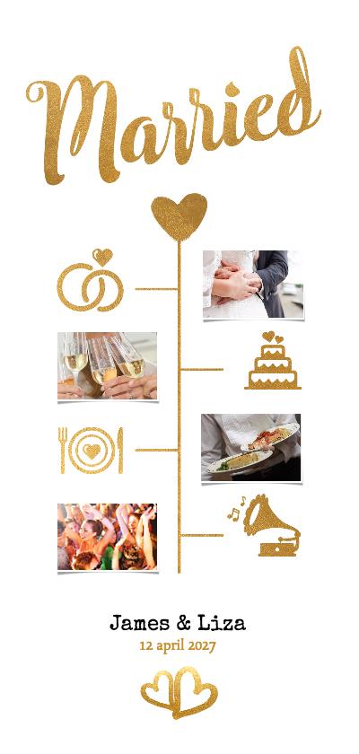 Langwerpig trouwkaartje