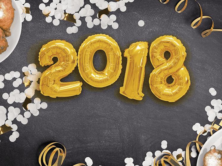 Nieuwjaarskaarten met jaartal 2018