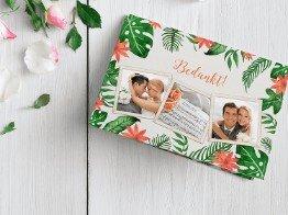 Bedankkaarten trouwdag huwelijk