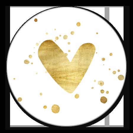 Gouden hartje en spetters