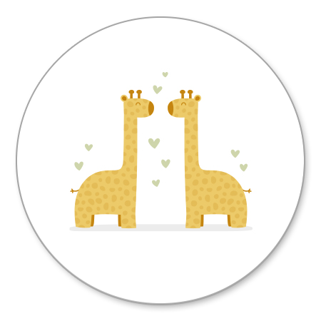 Tweeling giraffes met hartjes
