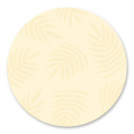 Botanisch patroon pastel geel