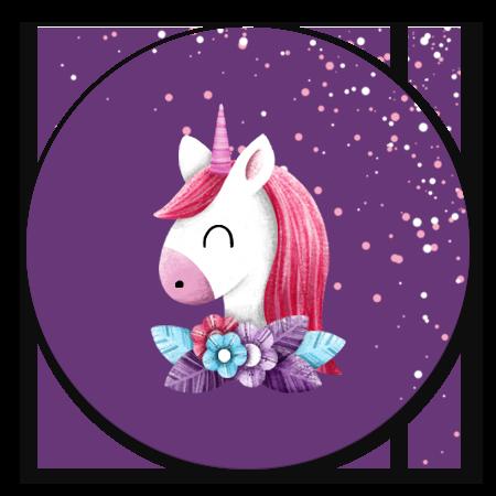 Unicorn met confetti