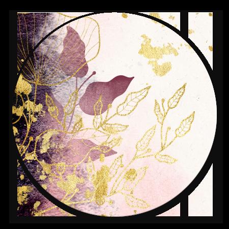 Stijlvol met waterverf en gouden bloemen