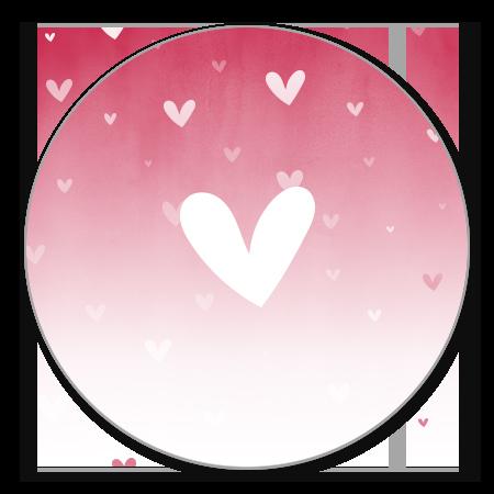 Roze waterverf ombre met hartje
