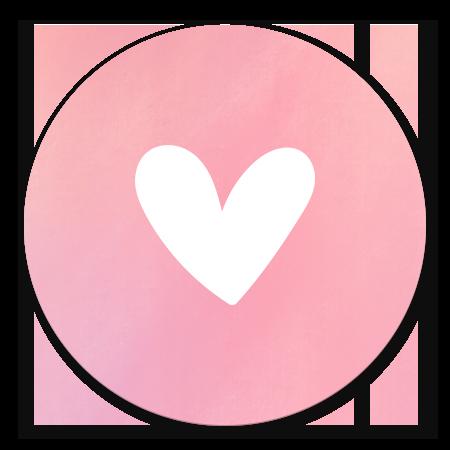 Simpel wit hartje met roze waterverf