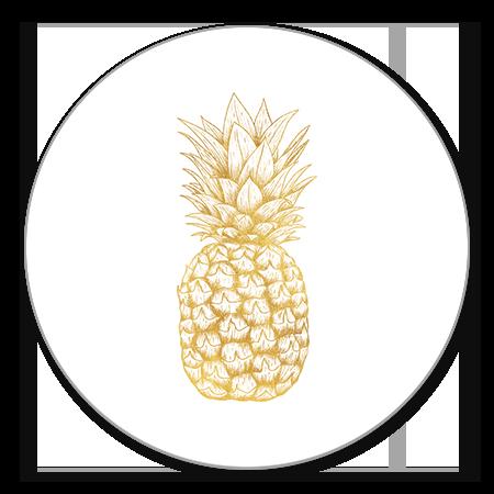 Gouden ananas