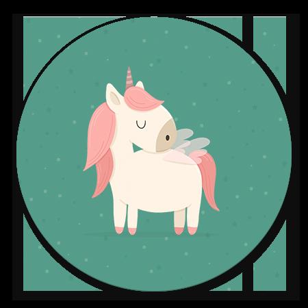 Unicorn met sterren groen