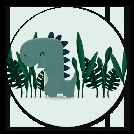Dinosaurus jungle jongen