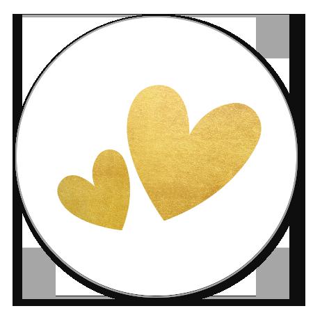 Twee gouden hartjes