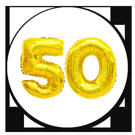 Cijferballon goud 50