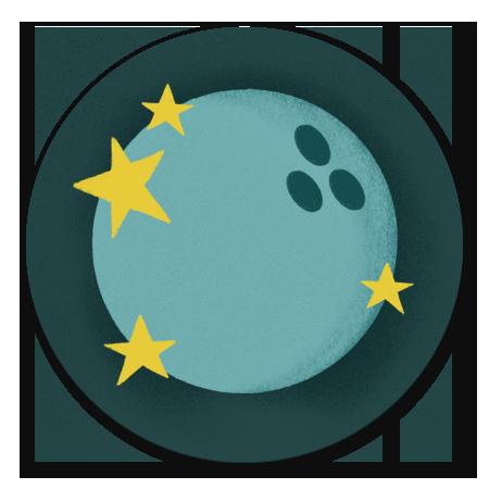 Bowlingbal met sterren