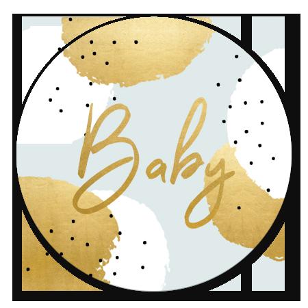 Gouden Stippen Babyshower Jongen