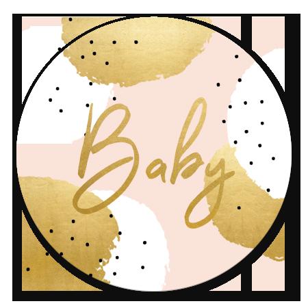 Gouden Stippen Babyshower Meisje