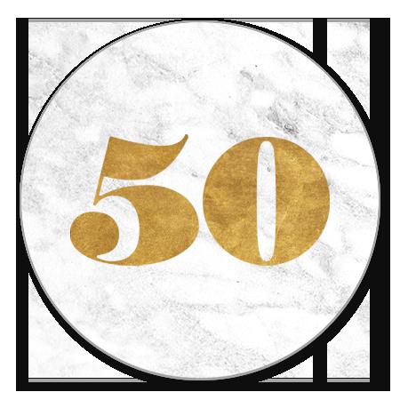 Marmer met gouden 50