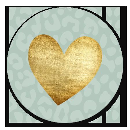 Geboorte Panterprint met gouden hart voor jongen
