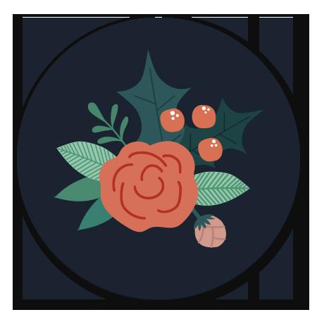 Kerst sluitzegel Bloemen Rendier