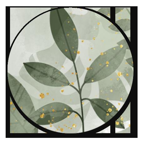 Trouwen botanische planten en waterverf