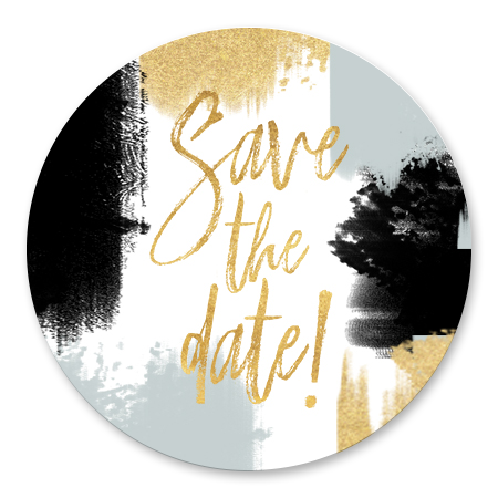 Verfstrepen Save the Date