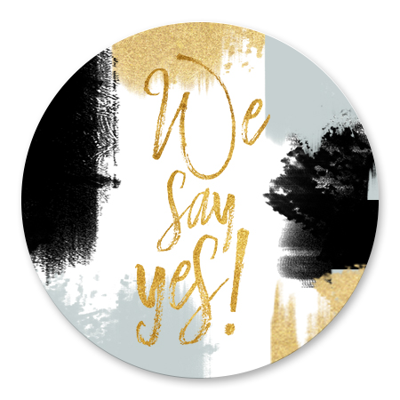 Verfstrepen We say Yes!