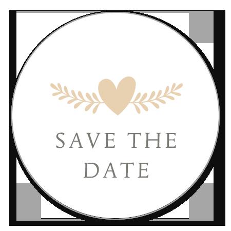 Save the Date - Hartje met takje