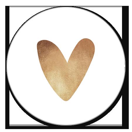 Sluitzegel hartje goud