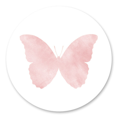 Silhouet Vlinder - Waterverf roze