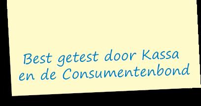 Best getest door Kassa en Consumentenbond
