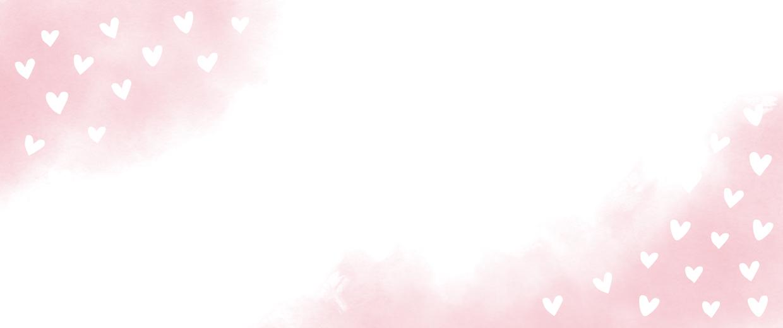 Roze waterverf met hartjes